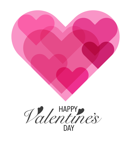Heart Sharp With Valentines Day Lettering Background Illustration