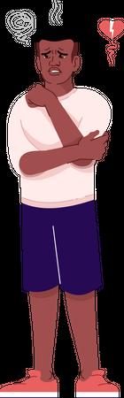 Heartbroken man Illustration