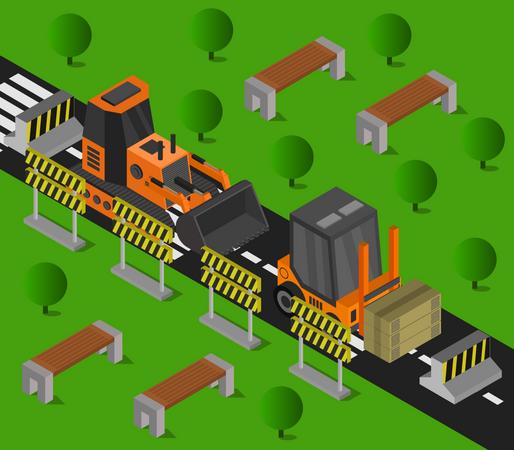 Heavy vehicle Illustration