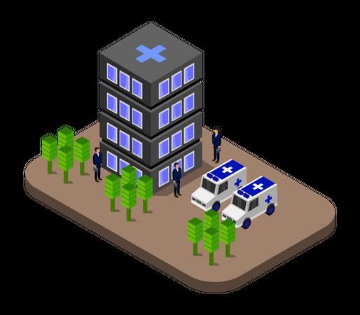 Helipad facility Illustration