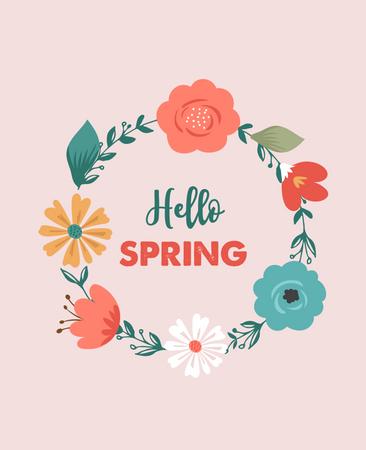 Hello Spring Illustration