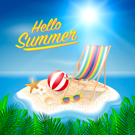 Hello summer background Illustration