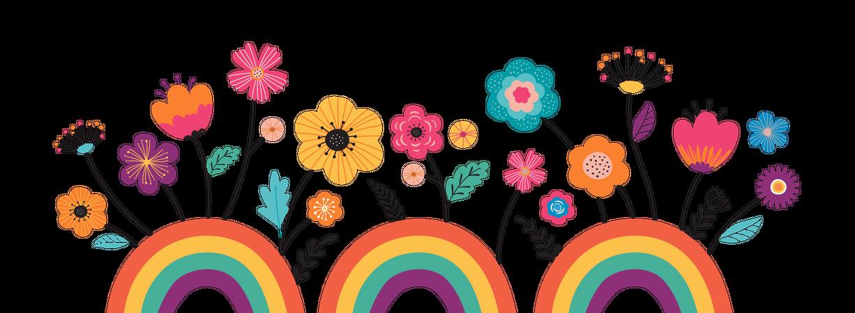 Hello summer banner Illustration