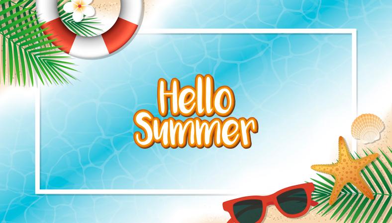 Hello summer holiday background Illustration