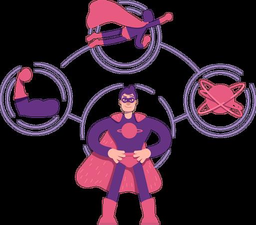 Hero archetype Illustration