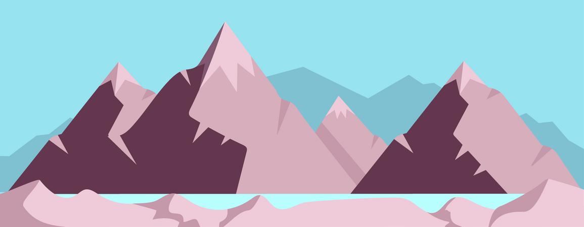 High mountain Illustration