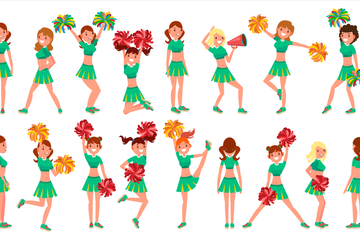 Cheerleader Girl Illustration Pack