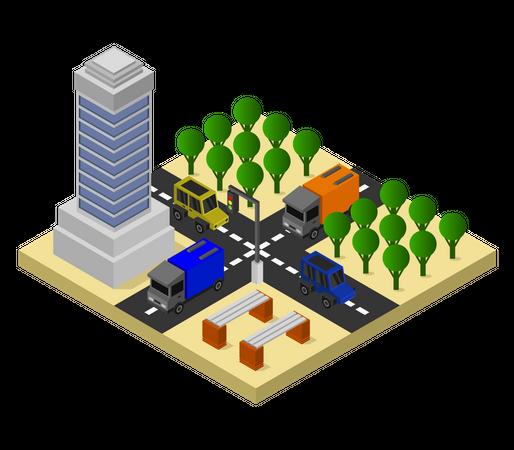 Highrise building Illustration