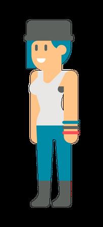 Hipster Girl Illustration
