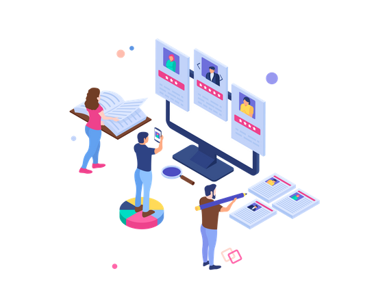 Hiring and recruitment Illustration