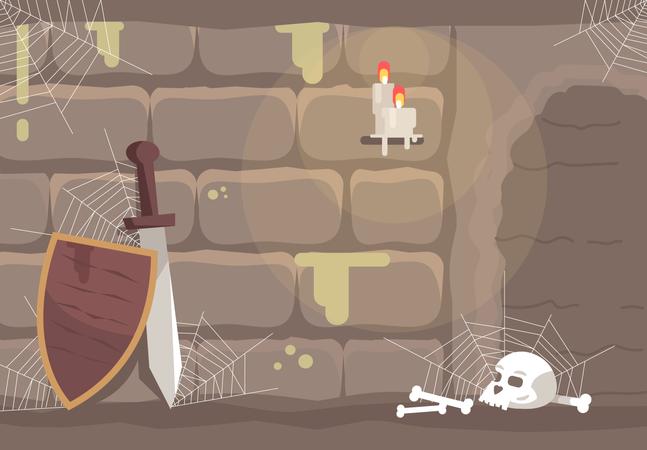 Historical quest room Illustration
