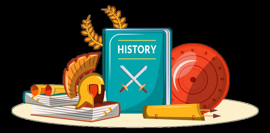 History book Illustration