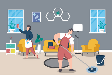 Home Cleaning Service Illustration Pack