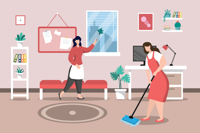 Home Cleaning Service Illustration