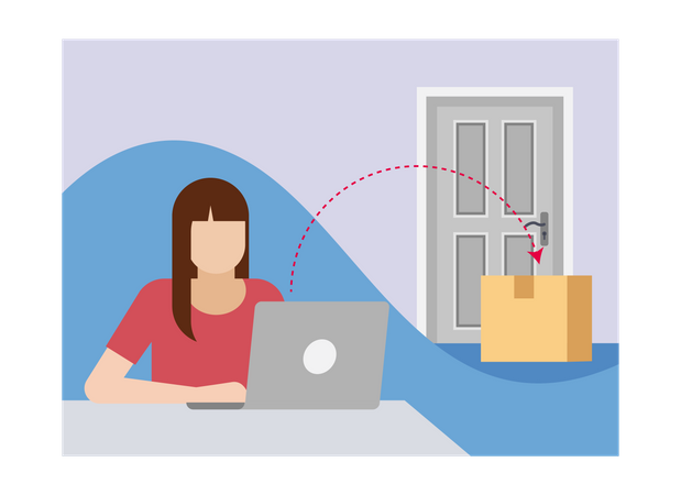 Home delivery Illustration