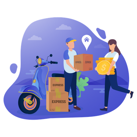 Home Delivery Charges Illustration
