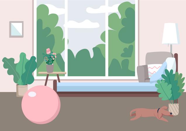 Home gym Illustration