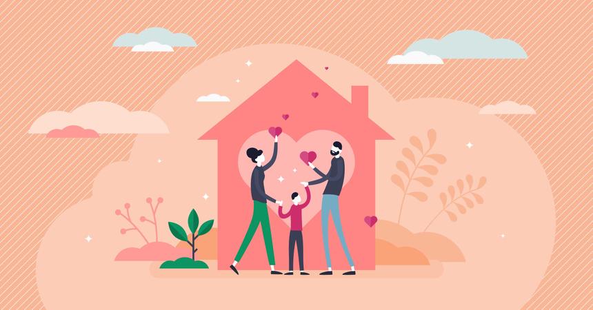 Home love Illustration