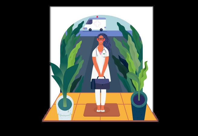Home medical assistance Illustration