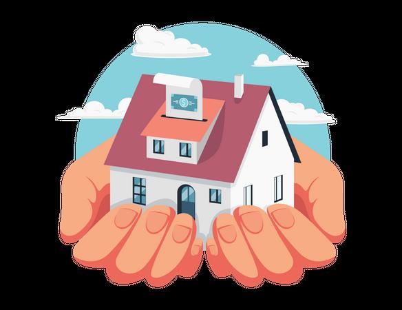 Home mortgage Illustration