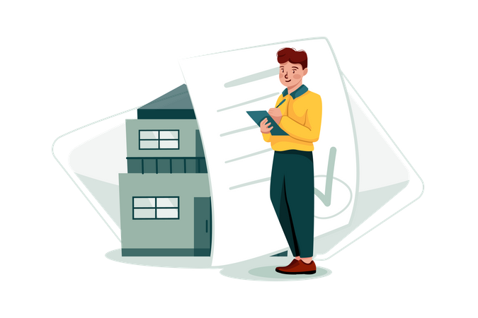 Home Property Certificate Illustration