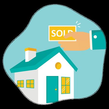 Home sold Illustration