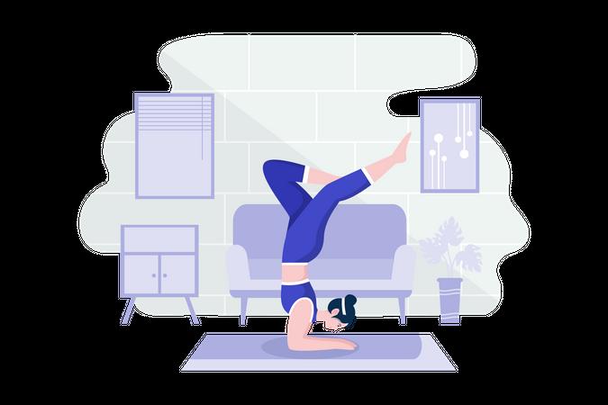 Home workout Illustration