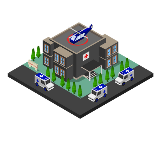 Hospital building Illustration