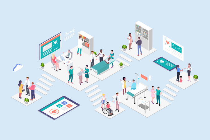 Hospital Concept Illustration