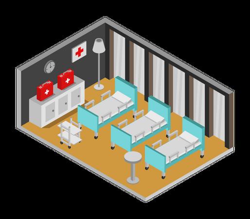 Hospital room Illustration