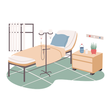 Hospital treatment room Illustration