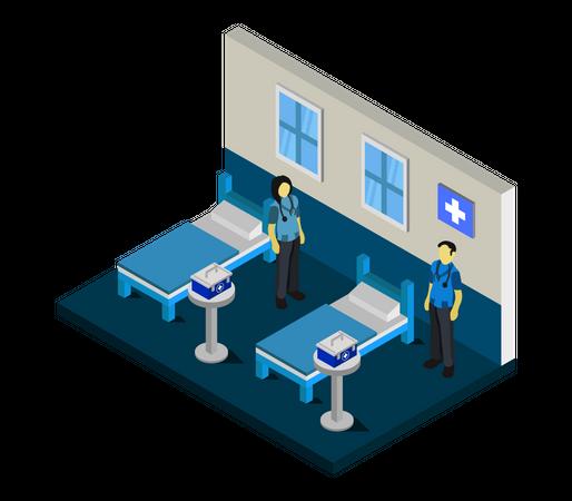 Hospital ward Illustration