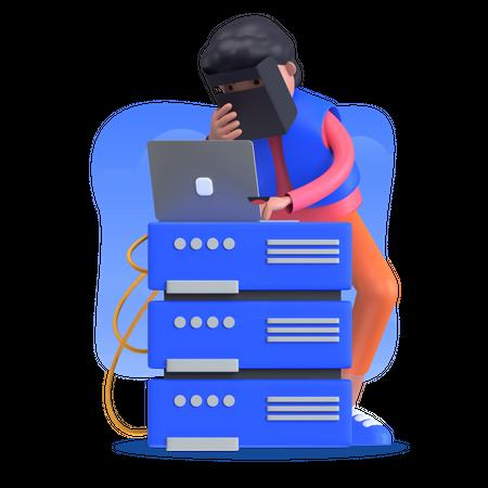 Host server Illustration
