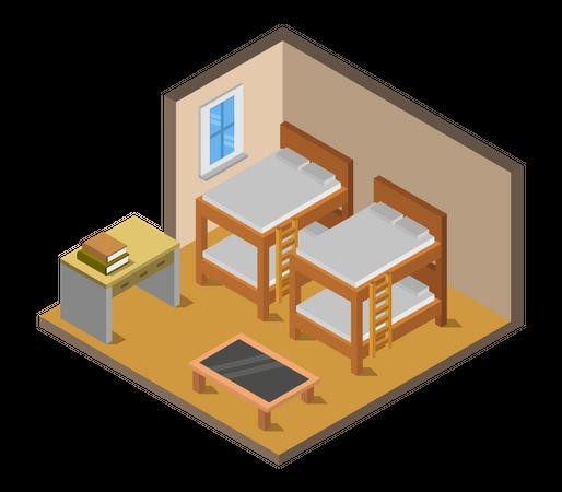Hostel Illustration