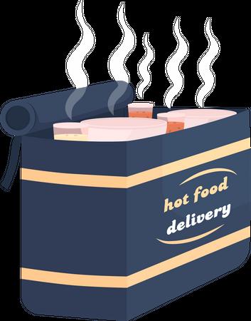Hot food delivery bag Illustration