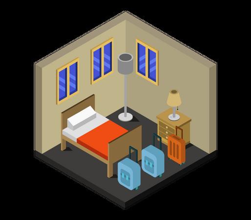 Hotel room Illustration