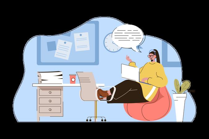 Hotline service Illustration