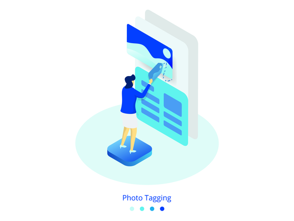 Hoto Tagging concept Illustration