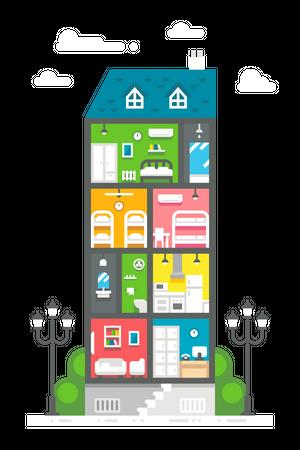 House Apartment Illustration