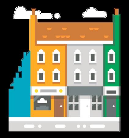House Building Illustration