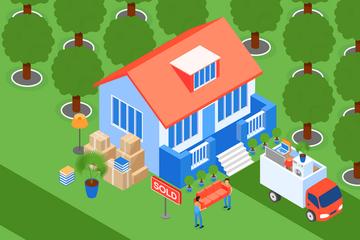 Moving Home Illustration Pack