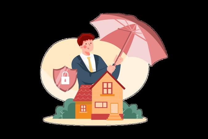 House Insurance Illustration