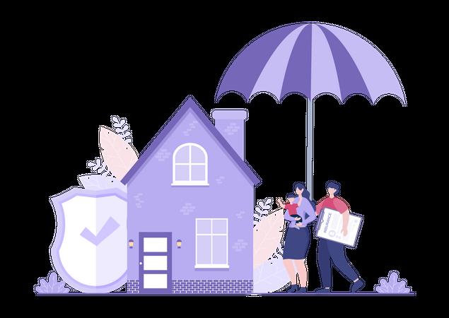 House protection Insurance Illustration