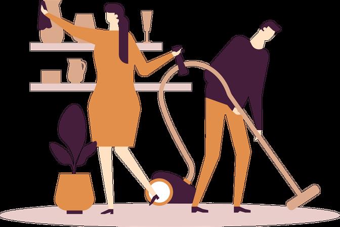 Household chores Illustration