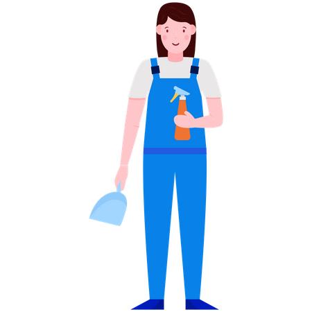 Housekeeping Illustration