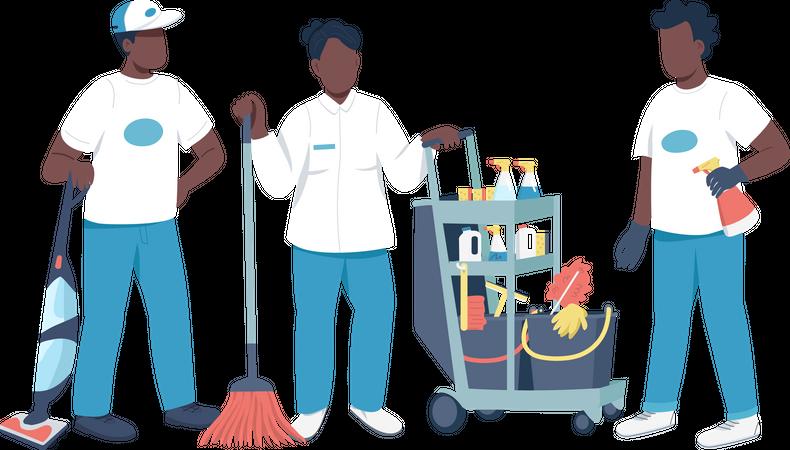 Housekeeping Service Illustration
