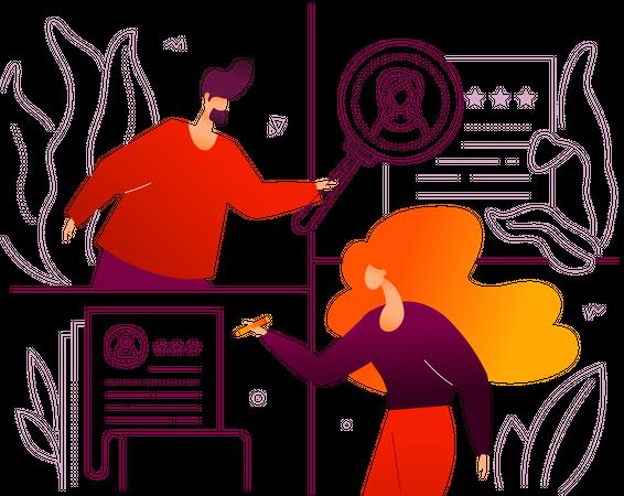 HR management Illustration