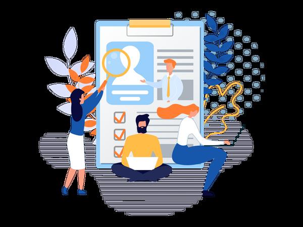 Human recruitment Illustration