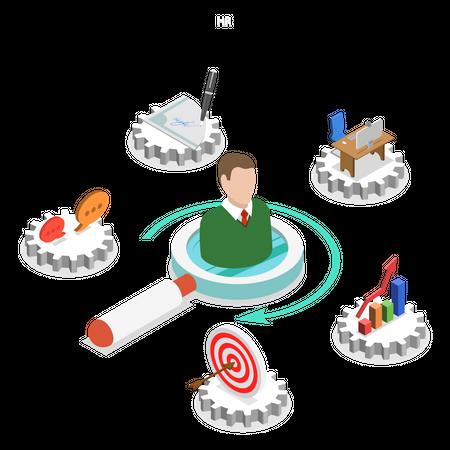 Human resource management Illustration