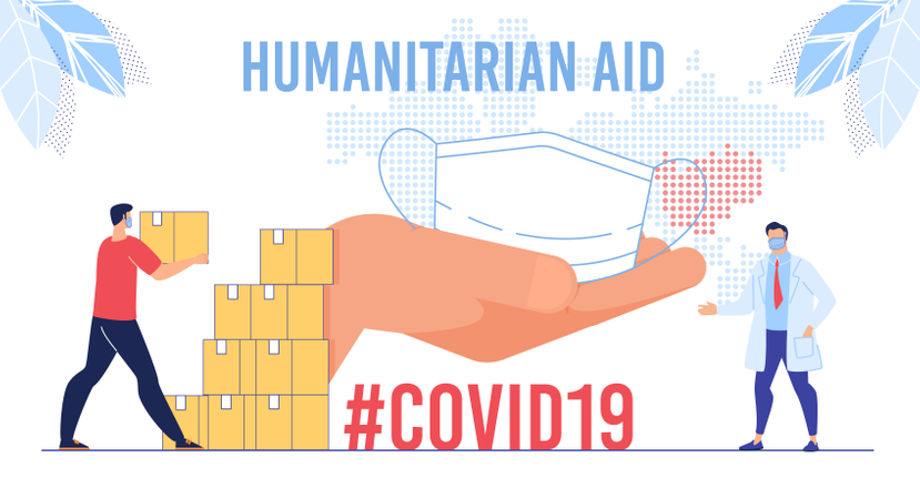 Humanitarian Support, Goodwill Mission in Suffering from Coronavirus Epidemic Country, Intentional Help, Supplying Masks for China Concept Illustration